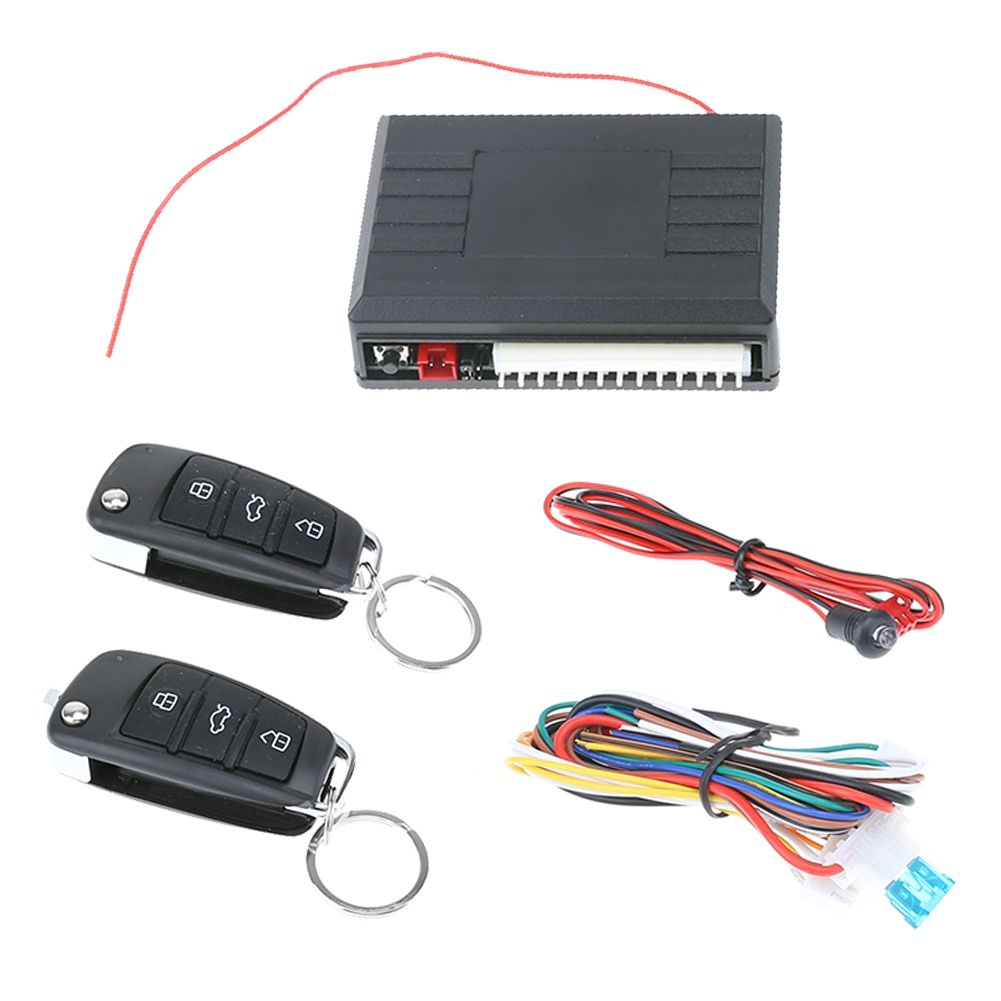 Car Alarm keychain Start Stop System Remote Control Central Locking Door kit Keyless Entry System with Button Start Stop LED