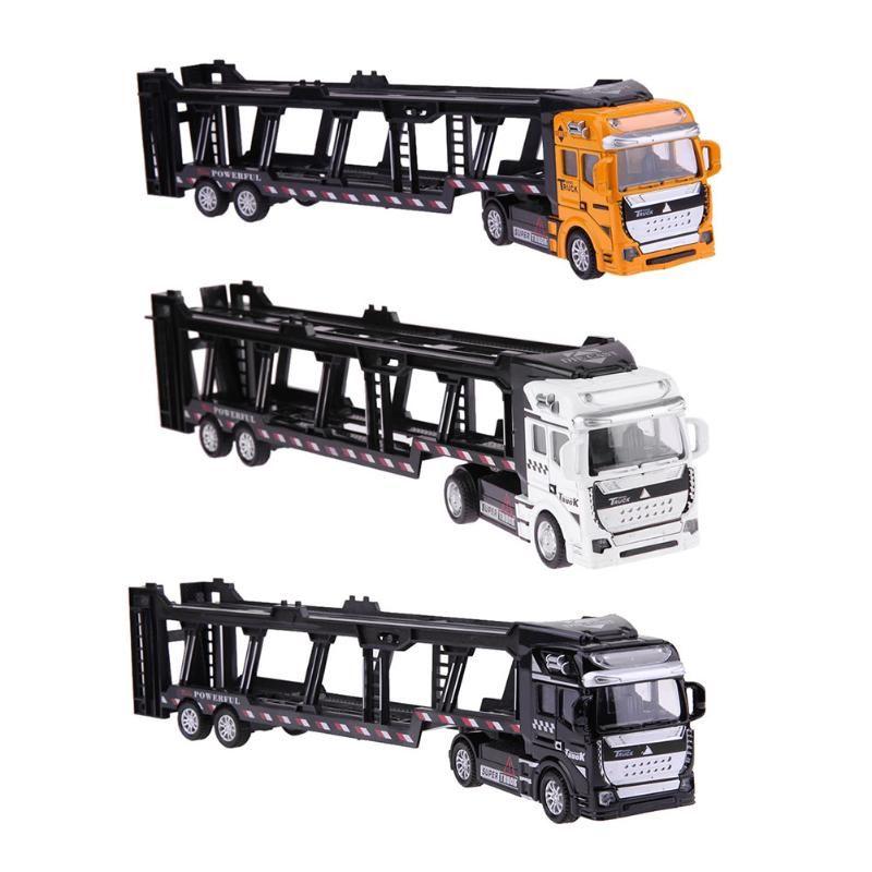 1:48 Pull Back Car Alloy Super Truck Transportation Vehicle Simulation Model Car Toys for Children Birthday Gift
