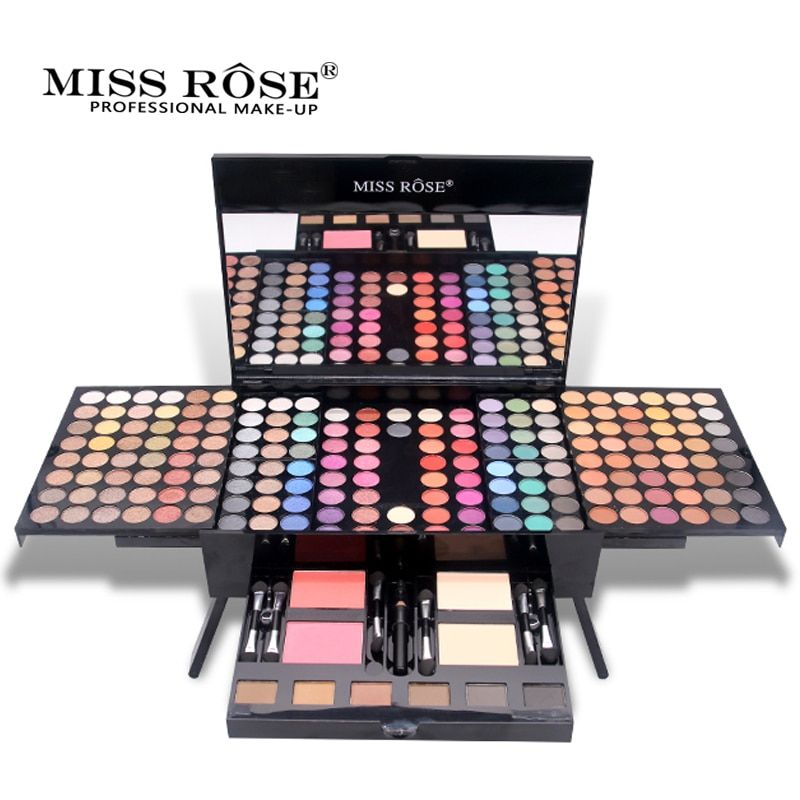 MISS ROSE Brand Shimmer Glitter Matte Eyeshadow Palette Waterproof Eye Shadow Long Lasting Makeup