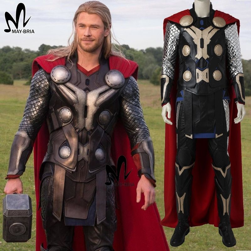 Avengers Age of Ultron Thor cosplay costume Halloween costumes for adult men cosplay Superhero Thor costume hammer boots suit