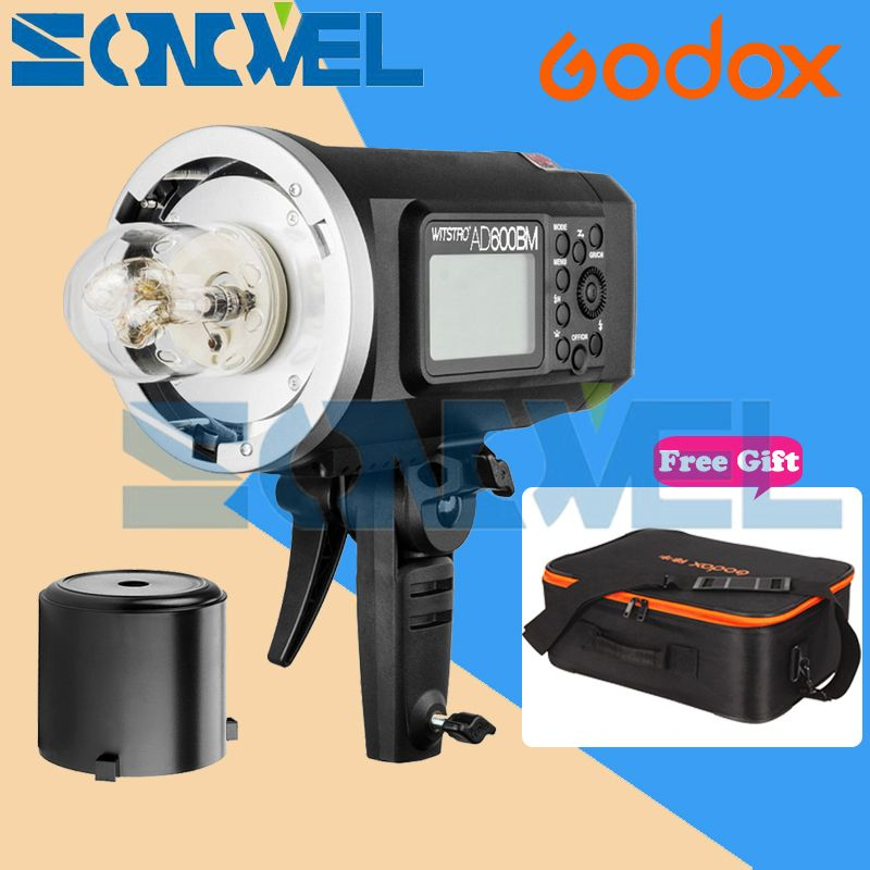 Godox Wistro AD600BM Bowens Mount HSS 1/8000s Outdoor Flash with 2.4G X System Build-in 8700mAh Li-on Battery + Free CB-09 Bag