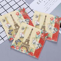 Paris Eiffelturm Blume Papier Servietten Cafe & Party Tissue Servietten Decoupage Dekoration Papier 33 cm * 33 cm 20 teile/paket