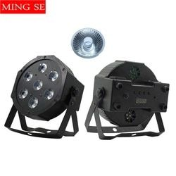 7x12w led Par lights  RGBW 4in1 7x18w RGBWA UV 6in1  flat par led dmx512  disco lights professional stage dj equipment