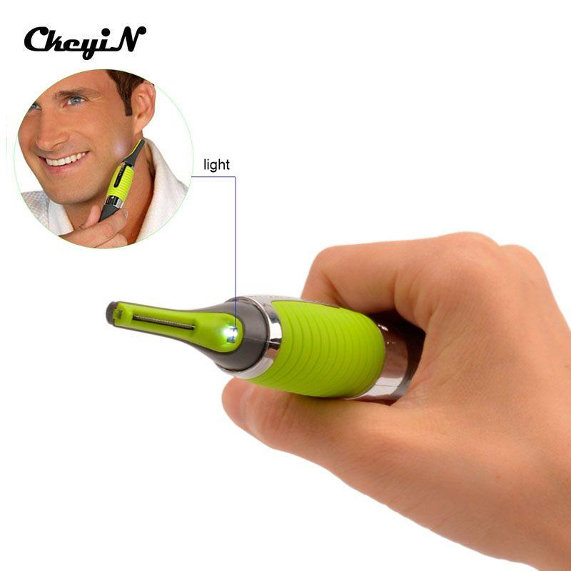 Micro Precision Ear Nose Eyebrow Face Neck Hair Trimmer Shaver Machine Mini Travel LED Light Shaver Razors For Men Shaving Razor