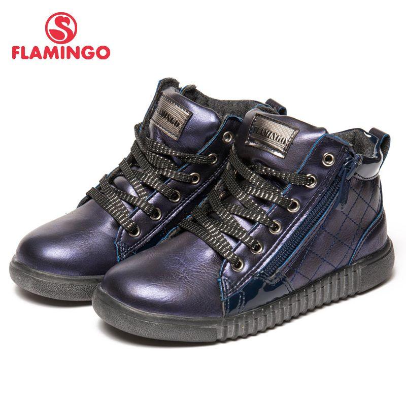 FLAMINGO Herbst/winter warm Halten Gitter Boot Hohe Qualität Spitze-Up Anti-slip Kinder Schuh für Mädchen freies verschiffen 82B-MLB-0916