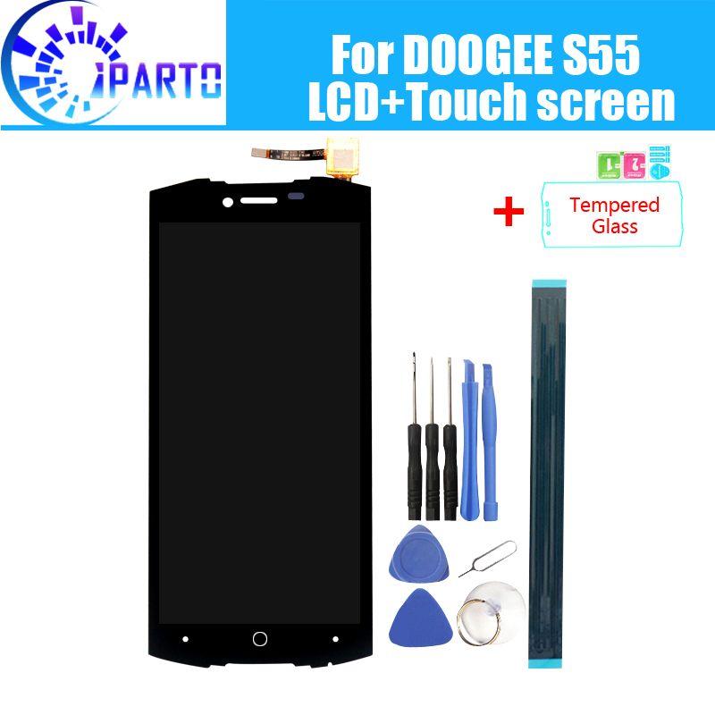 Doogee S55 LCD Display + Écran Tactile 100% Original Testé LCD Digitizer Verre de Remplacement Du Panneau Pour Doogee S55