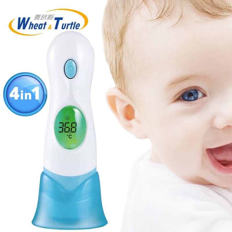 Bebé Fiebre Médica Cuidado de La Salud Termómetro Digital Lcd Termómetro Sin Contacto Cuerpo 4 En 1 Termómetro Infrarrojo Multifuncional