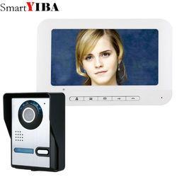 SmartYIBA 7 Inch TFT Video Door Phone Doorbell Intercom Kit 1-camera 1-monitor Night Vision with IR-CUT HD 700TVL Camera
