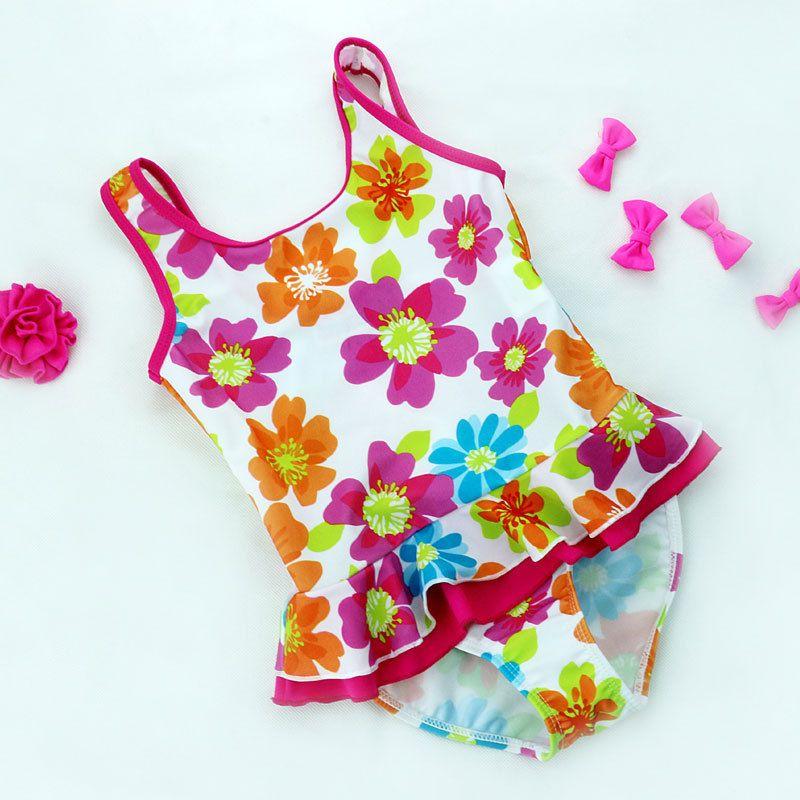 Kinder Badeanzüge Mädchen Ein Stück Floral Bikini 2017 kinder bademode für mädchen infant badeanzug mädchen kind Sommer bikini