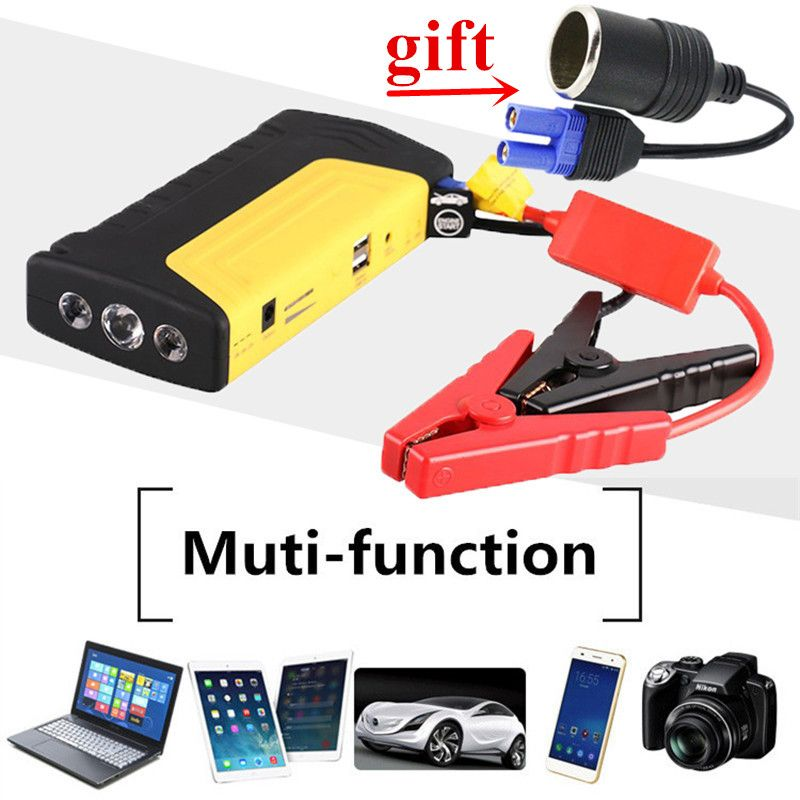 Mini Emergency Car Jump Starter 12V 600A Portable Starting Device Charger for Car Battery Booster Buster Starting Diesel Petrol