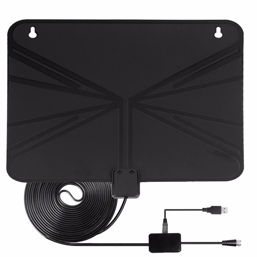 Onleny усиленный HD Телевизионные антенны 50 миль диапазон цифровой Indoor США Plug Телевизионные антенны сигнала Усилители домашние Booster ж/10FT Long Range ...