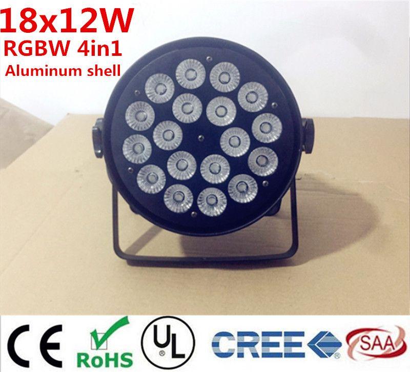 18x12 W RGBW 4in1 18x15 W RGBWA Led Par de Luz DMX Etapa de lavado luces Luces de Negocios Profesional Flat Par Can para el Partido KTV Disco