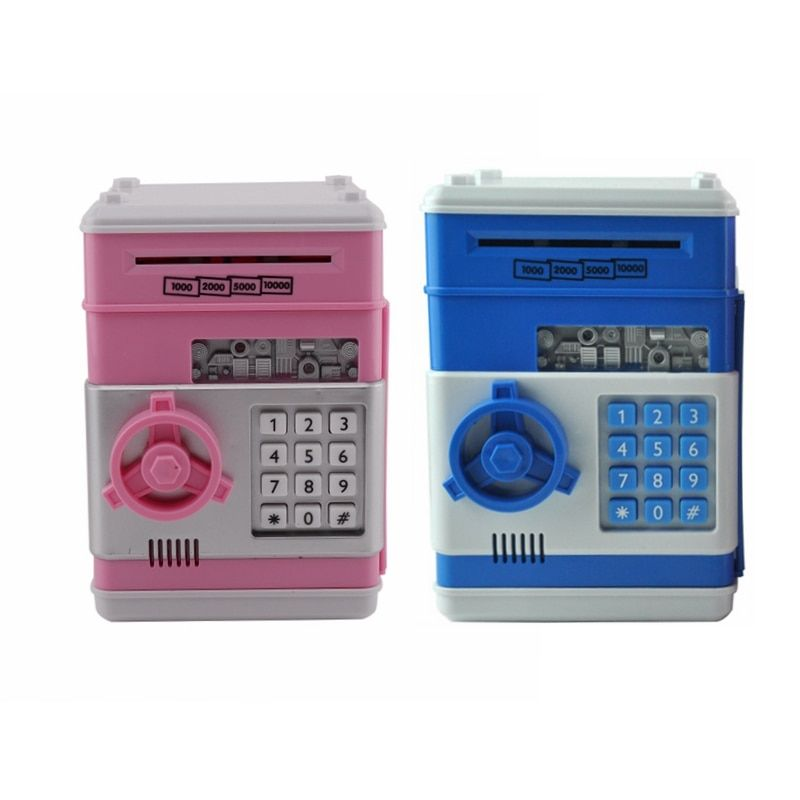 Piggy Bank Mini Atm Money Box Safety Electronic Password Chewing Coins Cash Deposit Home Decor Financial Management Machine
