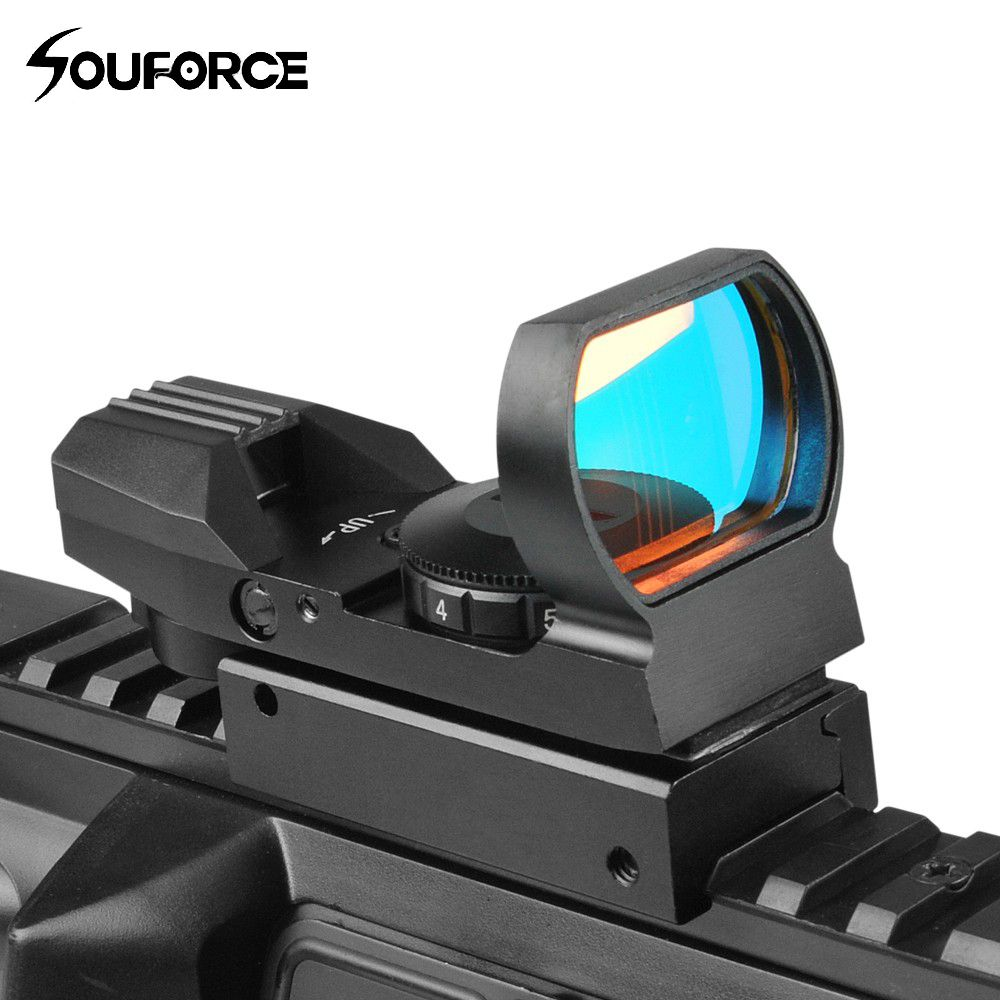 Tactical Reflex Red Dot Scope Airgun Rifle sight Hunting Rail Mount 20mm for Hunting Rifle Gun Airsoft Tactical Sniper