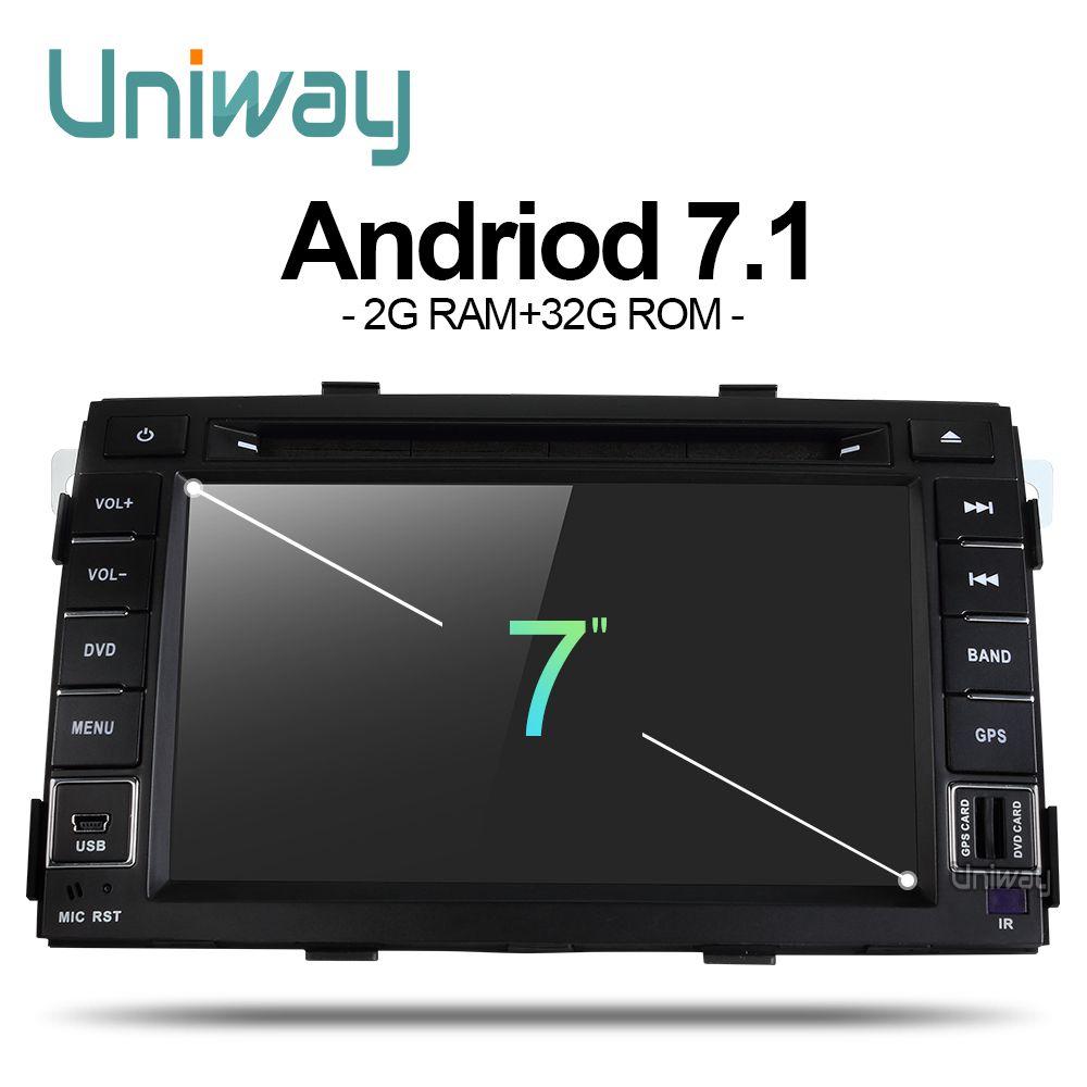 Uniway ZLSLT7071 2G + 32G android 7.1 auto dvd für kia sorento 2009 2010 2011 2012 2 din in dash auto stereo gps nagavition steuergerät