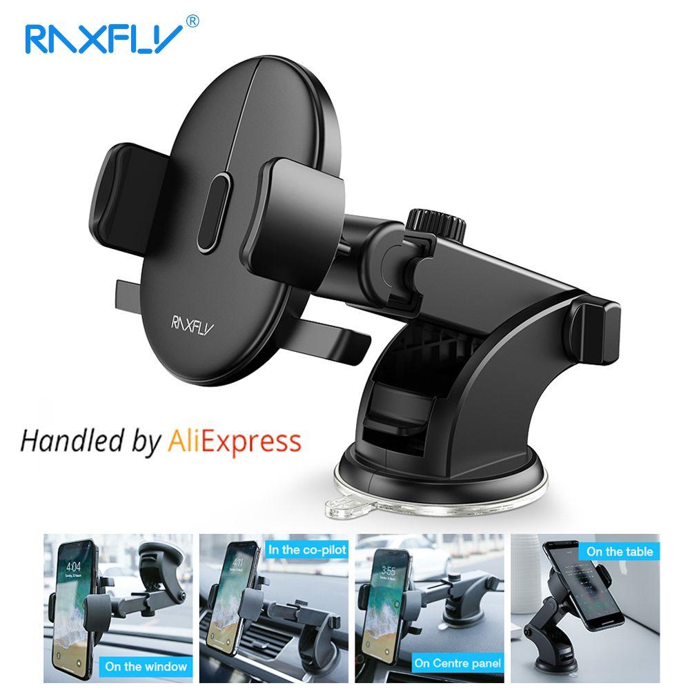 RAXFLY Pare-Brise Support De Bâti de Téléphone dans la Voiture Pour Samsung S9 S8 Plus 360 Rotation Support De Voiture Pour iPhone X Téléphone Stand soutien
