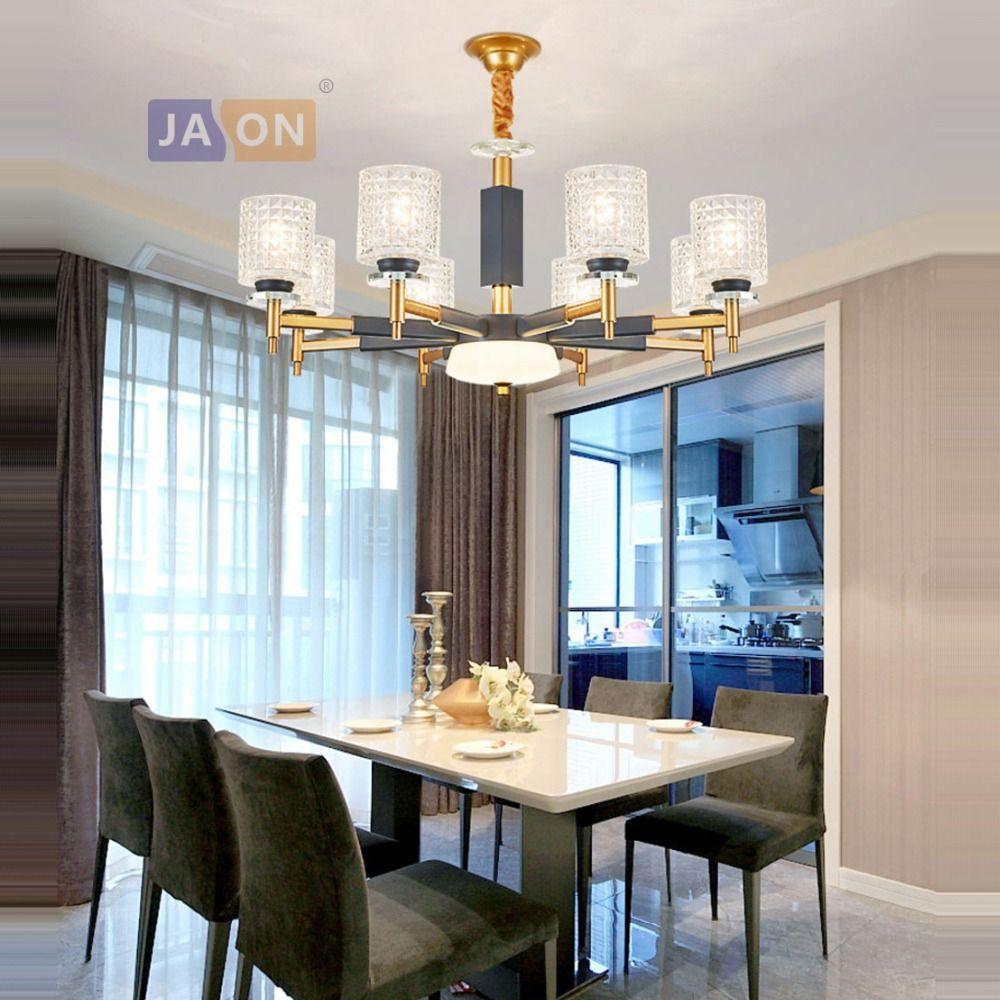 led e14 Postmodern Iron Glass Crystal LED Lamp LED Light.Pendant Lights.Pendant Lamp.Pendant light For Dinning Room