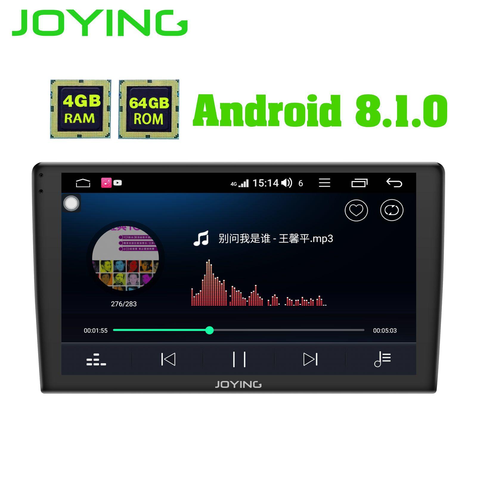 JOYING auto radio Android 8.1 4G + 64GB 9 zoll einzel din 2.5D Bildschirm GPS player audio unterstützung 4G DSP Wireless Carplay Autoradio BT