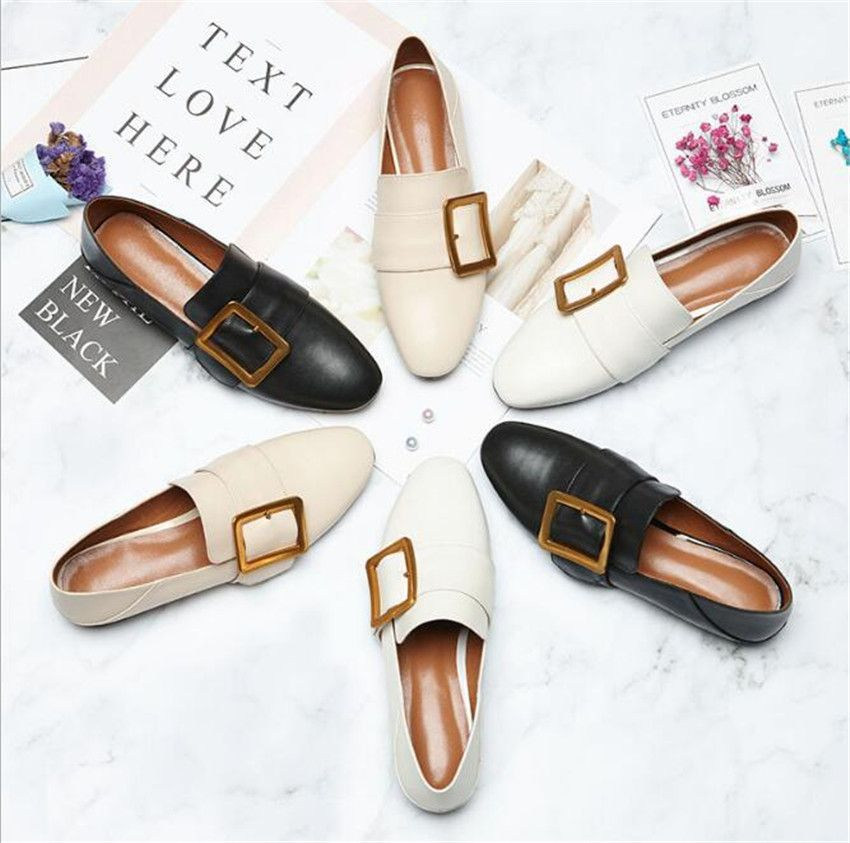 ZOUDKY 2018 new style square heel female coarse shallow cow skin lacquer fashion casual shoes