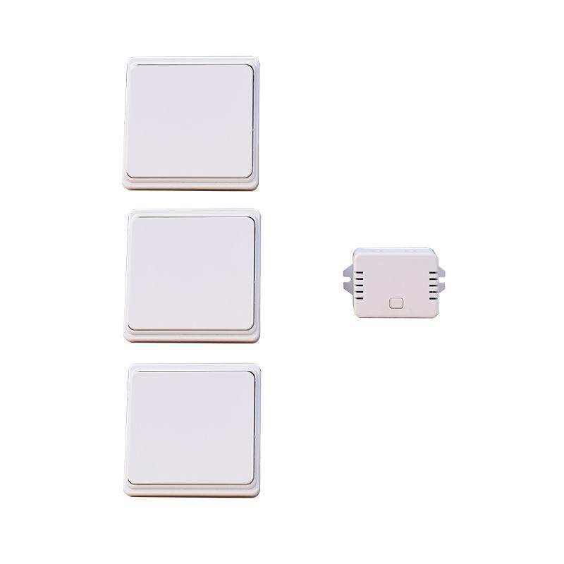 2018 Nouvelle Arrivée CE Rohs 3 Boutons + 1 Récepteur Télécommande Interrupteur Mural Sans Fil Sans Batterie 1 Gang interrupteur à Bouton-poussoir