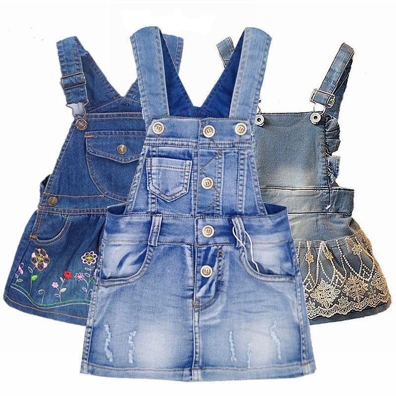 Chumhey Grade A bébé fille vêtements d'été robe d'été bambin bretelles Denim bretelles salopette Bebes vêtements enfants robes pour filles