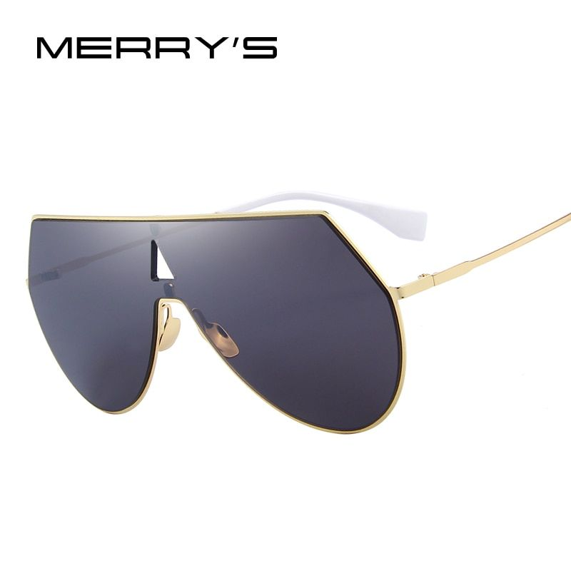 MERRY'S Marke Designer Männer/Frauen Integrierte Sonnenbrille Großen Rahmen S'8076