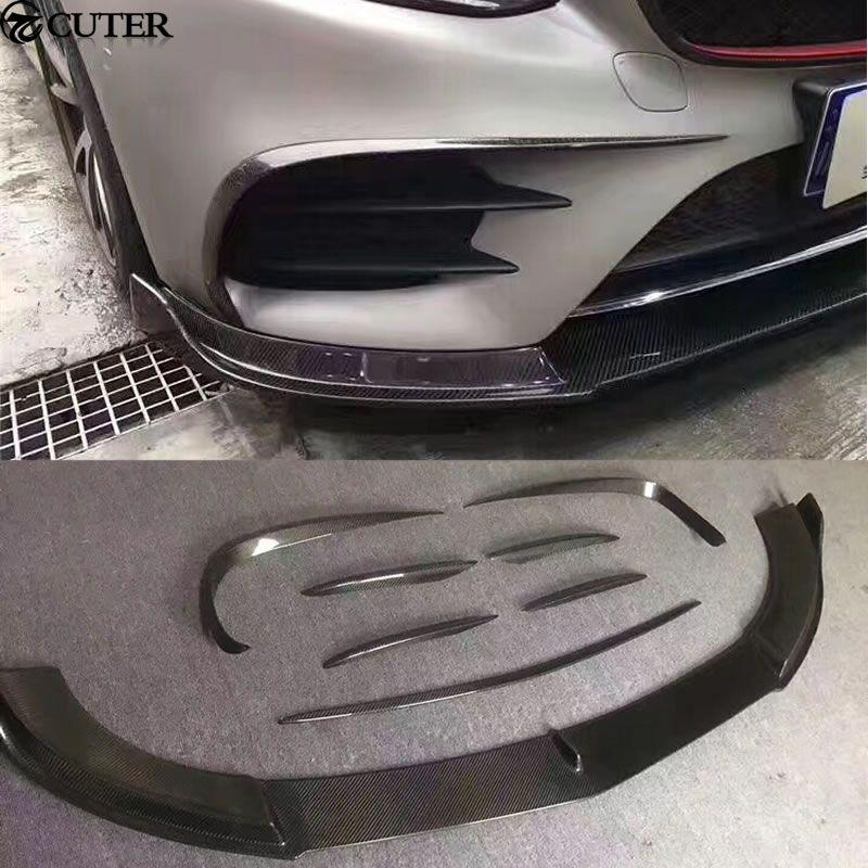 8 teile/satz W213 Auto body kit Carbon Frontstoßstange Air Vent Dekoration Modellierung Trim für Mercedes Benz W213 E300 13-16