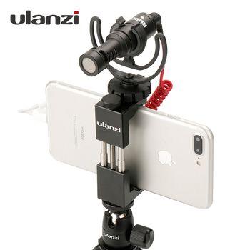Ulanzi حامل ثلاثي للهاتف محول تركيب مع الحذاء البارد مقبض تزوير حامل مزوّد بمسند للهاتف ترايبود كليب ل فون X 8 7 زائد سامسونج S8 S7