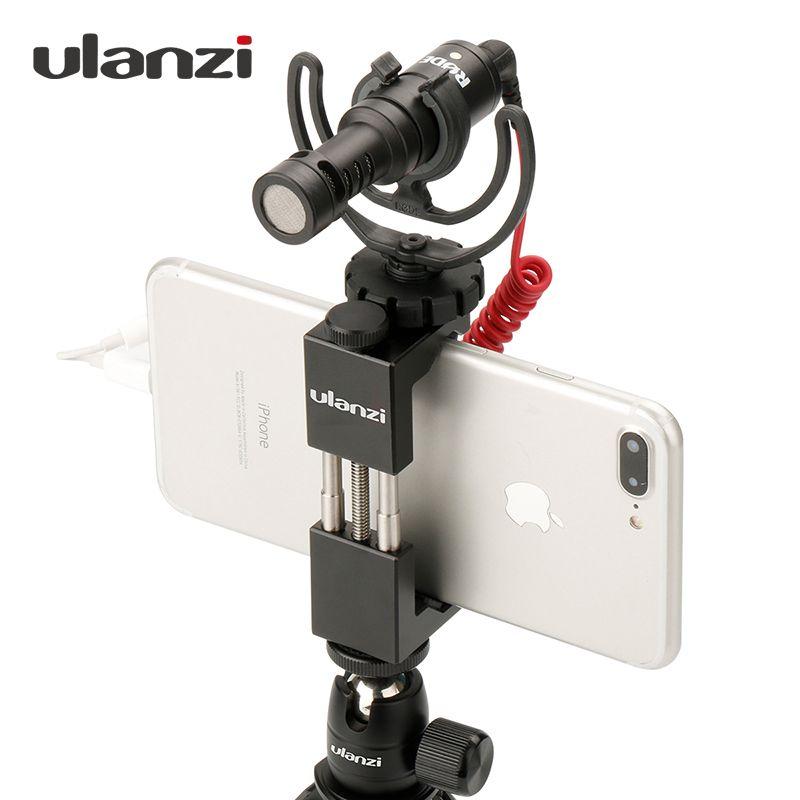 Ulanzi Téléphone Adaptateur De Trépied avec Sabot Poignée Plate-Forme support de téléphone Trépied Clip pour iPhone X 8 7 Plus Samsung S8 S7
