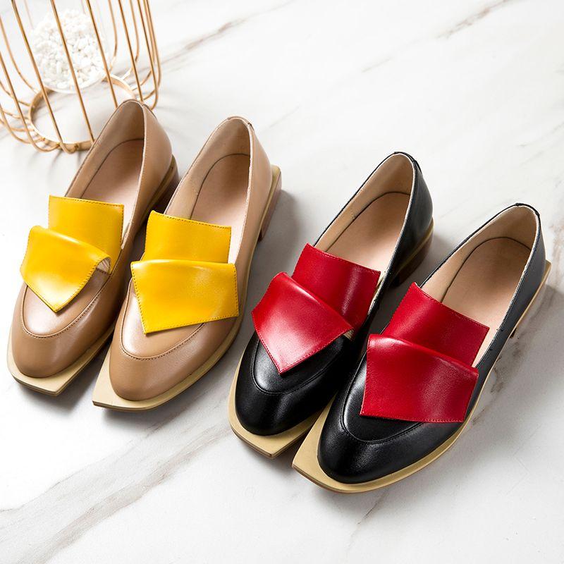 XIUNINGYAN Vintage Britischen Stil Wmen Oxford Schuhe für Frauen Echtes Leder Flache Schuhe Frau Handmade Schwarz Echt Leder Schuhe