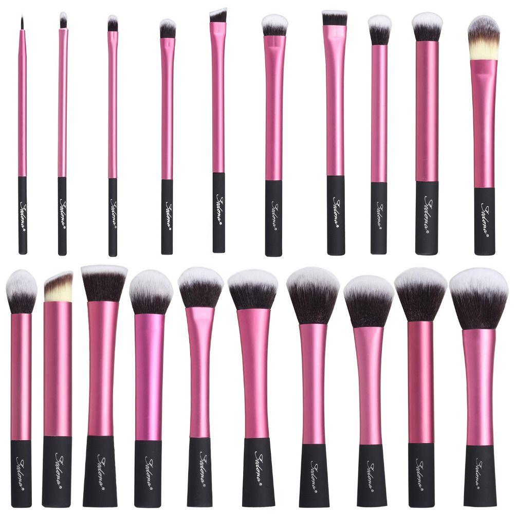 Sedona incroyable 20 pièces cheveux doux dense rose pinceau de maquillage cosmétique ensemble complet professionnel de haute qualité pour cadeau