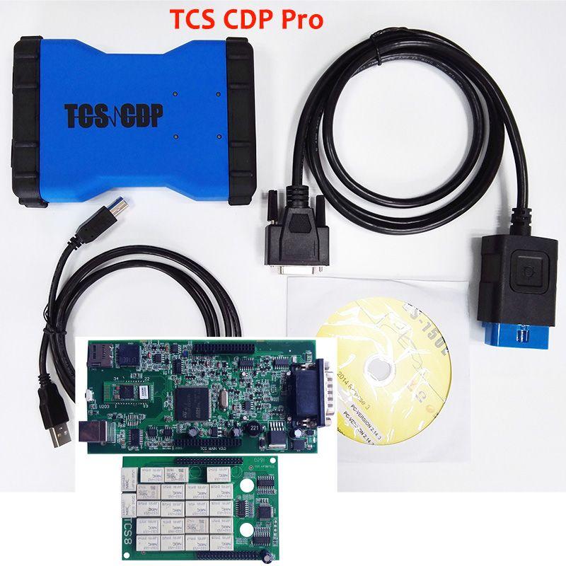 TCS CDP высокого качества двойной зеленая доска CDP TCS OBDII Интерфейс сканер для автомобиля/грузовик/Generic VD TCS CDP pro диагностический Бесплатная дост...
