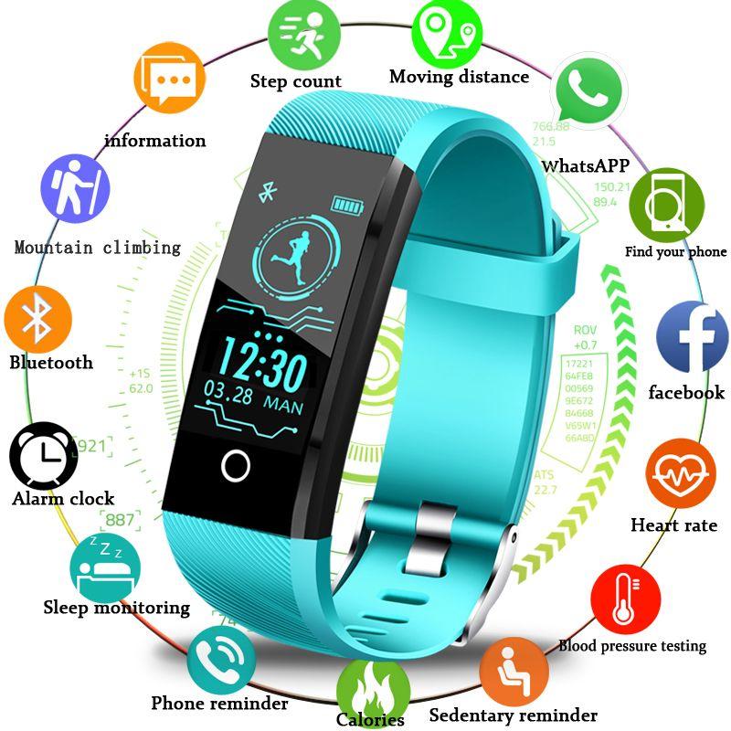 BANGWEI 2018 New Smart Wristband Heart Rate Tracker Blood Pressure Oxygen Fitness wrisband IP68 Waterproof Smart watch Men women