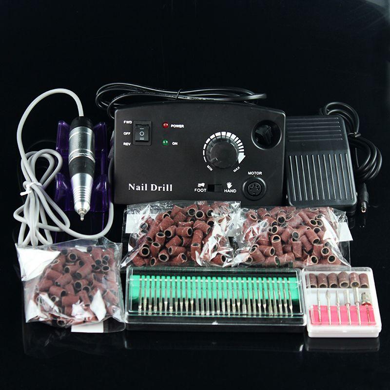 OPHIR Schwarz 30000 RPM 18 Watt Elektrisches Nagelbohrgerät Maschine Pediküre Maniküre-set Set Nagelfeile Bits Schleifbänder Nail werkzeuge _ KD146B