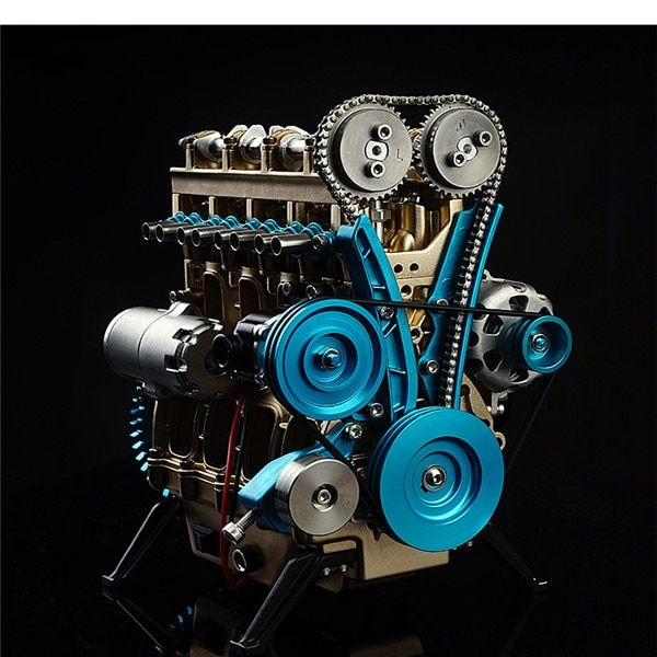 1:24 Four-Cylinder Engine Teaching Full Aluminium Alloy Model Collection Educational Toys Children Adult Toys New Arrival