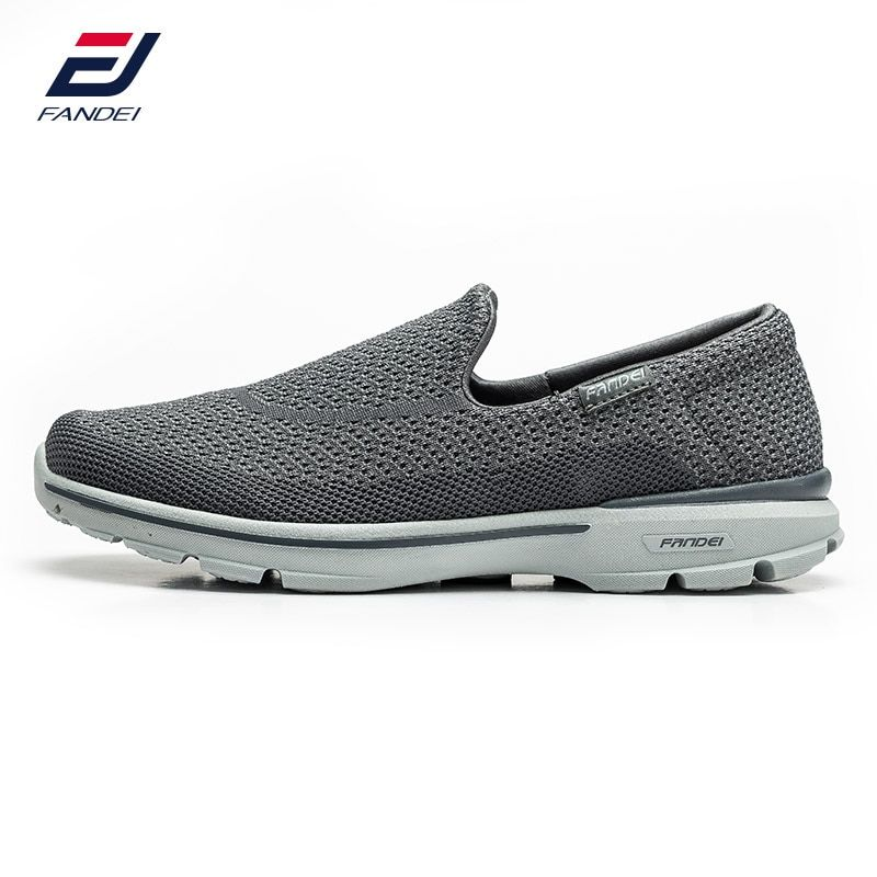 FANDEI 2017 breathable mesh running shoes for men comfortable light weight slip on sneakers men comfortable sport shoes for men