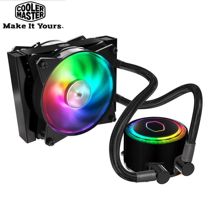Cooler Master CPU Flüssigkeit Kühler 120mm RGB leise lüfter Für Intel 775 115X2011 2066 und AMD AM4 AM3 + CPU wasser kühler PC kühler