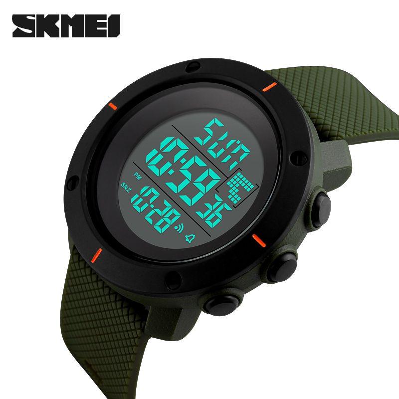 New Brand SKMEI Watch Men Military Sports Watches 50M Waterproof LED Digital Watch Clock Men Fashion Outdoor Wristwatches