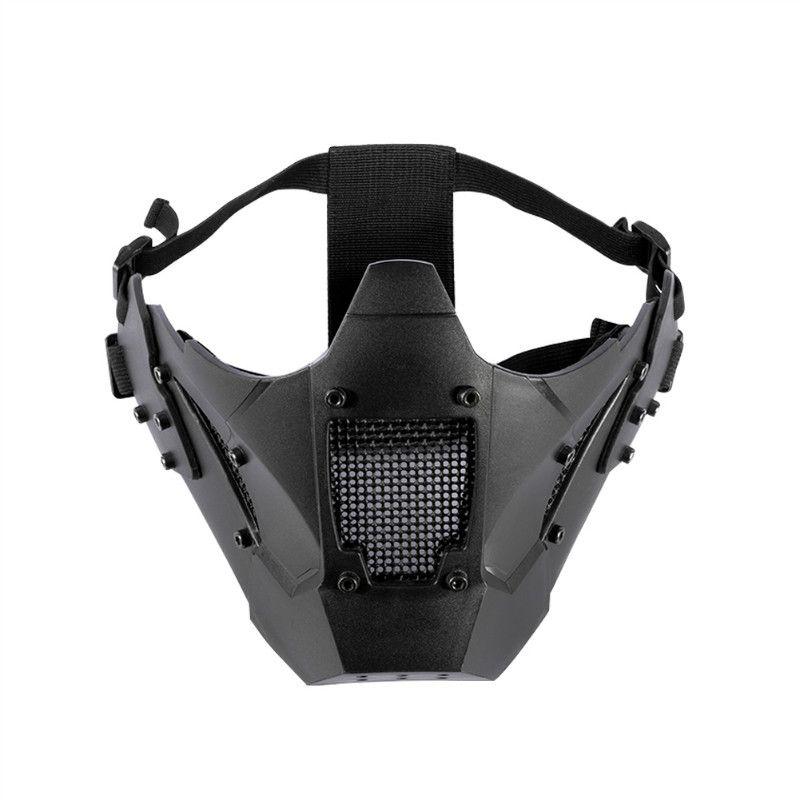 OneTigris Airsoft Mesh Mask ZM07 Tactical Mesh Mask Full Face TPE Mask FAST Helmet Mask
