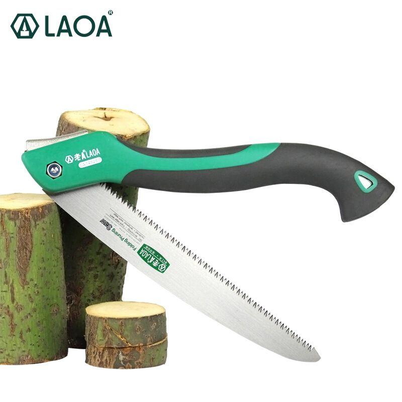 LAOA 10 pouces 7 T/9 T/12 T bois scie pliante en plein air pour Camping SK5 greffage sécateur pour arbres Chopper outils de jardin couteau unilité