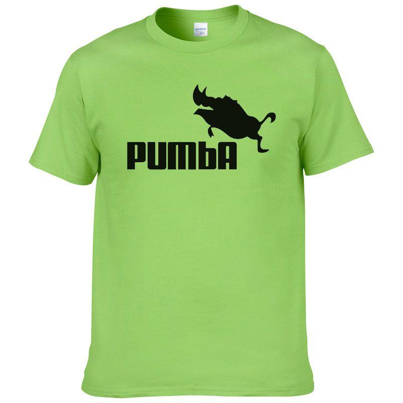2016 t drôle mignon t shirts homme Pumba hommes casual manches courtes en coton tops t-shirt frais d'été jersey costume t-shirt #062