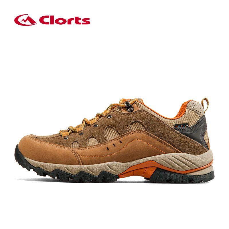 2016 Clorts Men Hiking Shoes HKL-815A/B Waterproof Uneebtex Outdoor Trekking Shoes Rubber Sports Sneakers