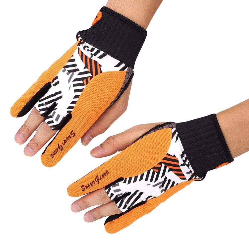 Non-slip Professional Sport Fitness Protective Semi-finger Bowling Ball Gloves Comfortable Non-slip