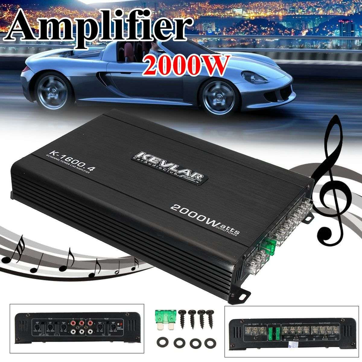 4 Channel Car Amplifier Audio 2000w 12dB High Power Car Amplifiers High Power