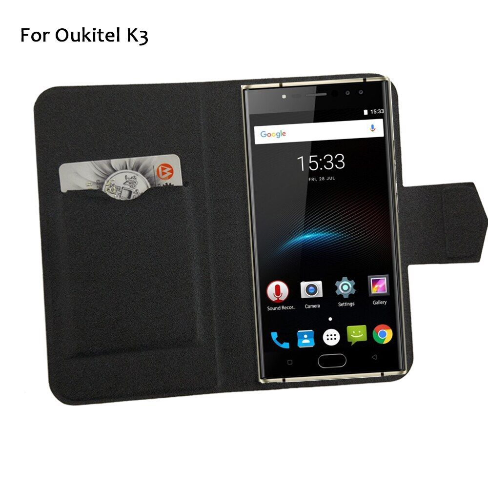 5 Colors Hot! Oukitel K3 Case Phone Leather Cover,Factory Direct Luxury Full Flip Stand Leather Phone Shell Cases