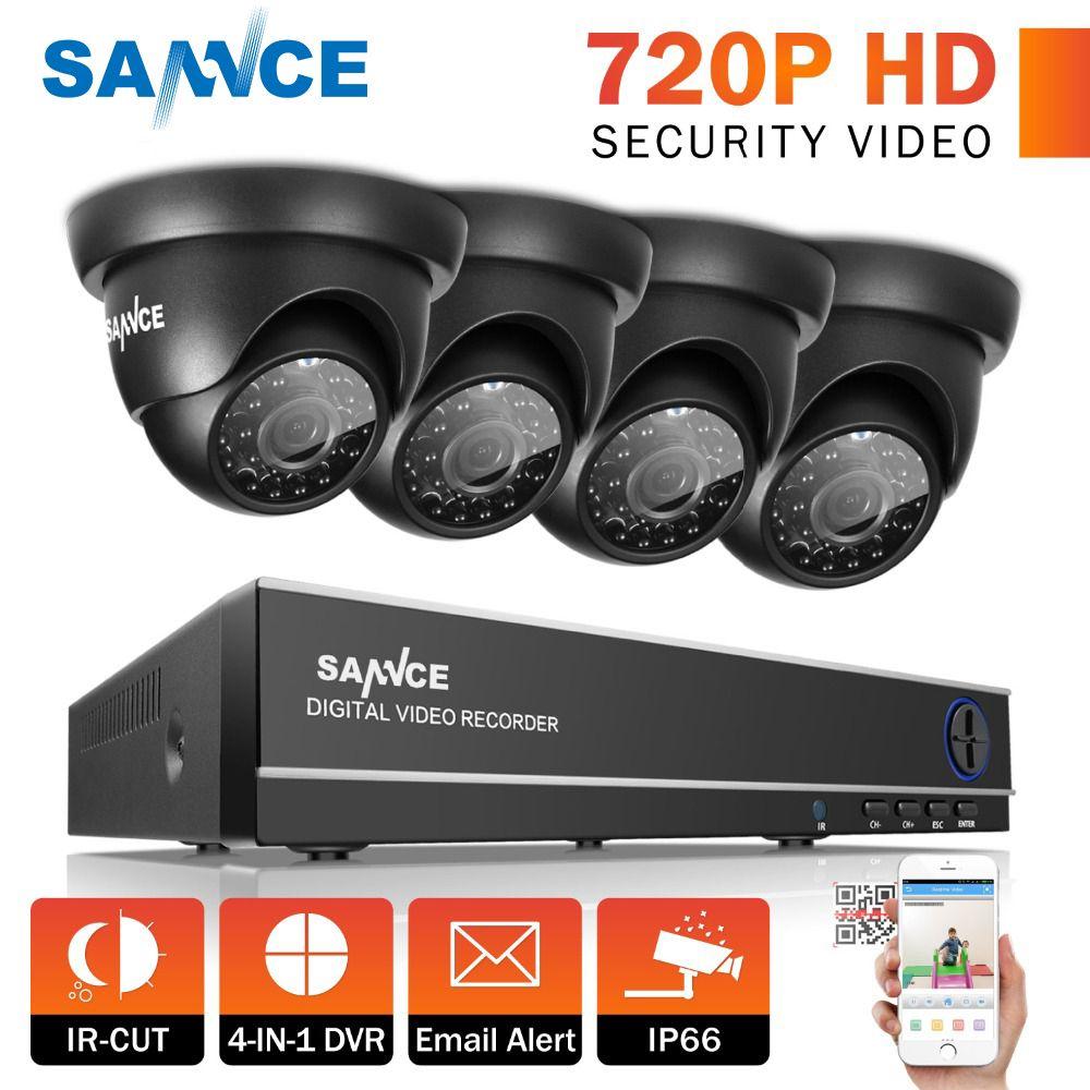 SANNCE 8CH 1080N HDMI DVR CCTV-System 4 stücke 720 P Sicherheit Kameras IR Indoor Wasserdichte Outdoor Video Überwachung CCTV kit
