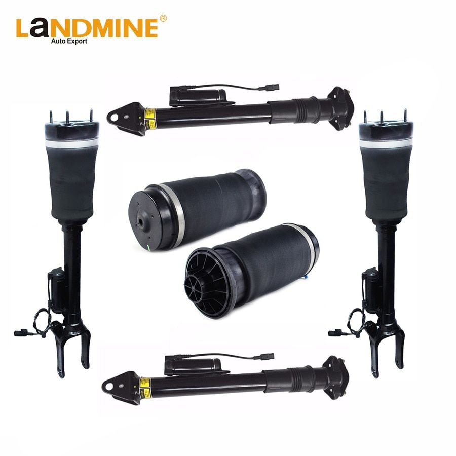 Free Shipping Mercedes W164 ML Front <font><b>2pcs</b></font> Rear Air Shock <font><b>2pcs</b></font> With ADS And <font><b>2pcs</b></font> Air Spring 1643204613 1643203031 1643200625