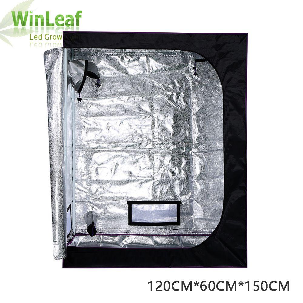 Grow Tent 120*60*150CM 600D for Indoor Hydroponics Greenhouse Plants Grow Tent