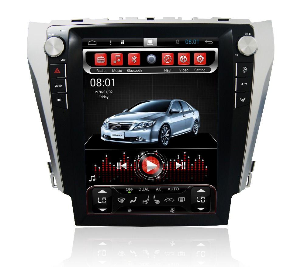 Navirider android 6.0 radio tape recorder 8 cores 2gb RAM 32gb ROM tesla vertical screen for Toyota Camry 2012-2015 headunits BT