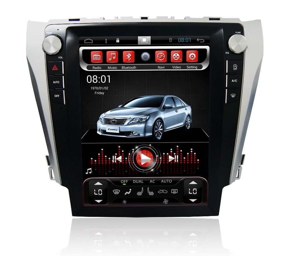 Navirider android 6.0 radio tape recorder 8 cores 2gb RAM 32gb ROM tesla vertical screen for Toyota Camry 2012-2015 headunits BT